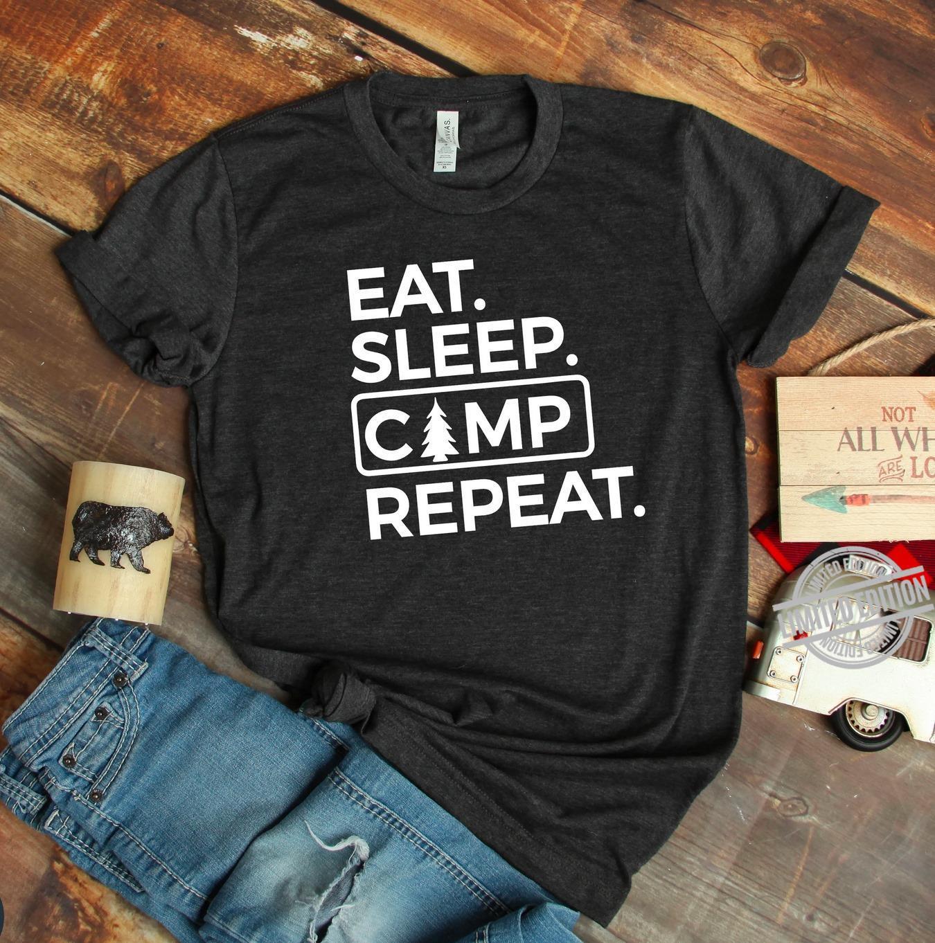 Eat Sleep Camp Repeat Shirt