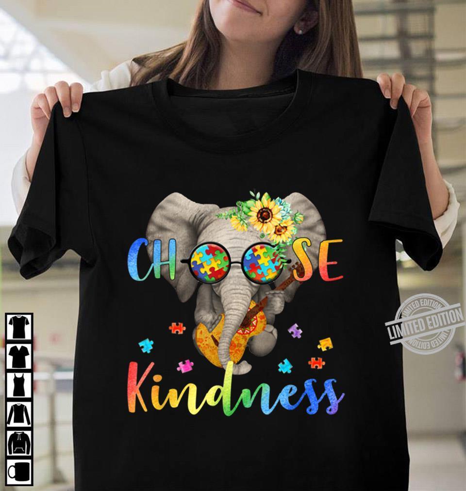 Elephant And Guitar Choose Kindness Shirt