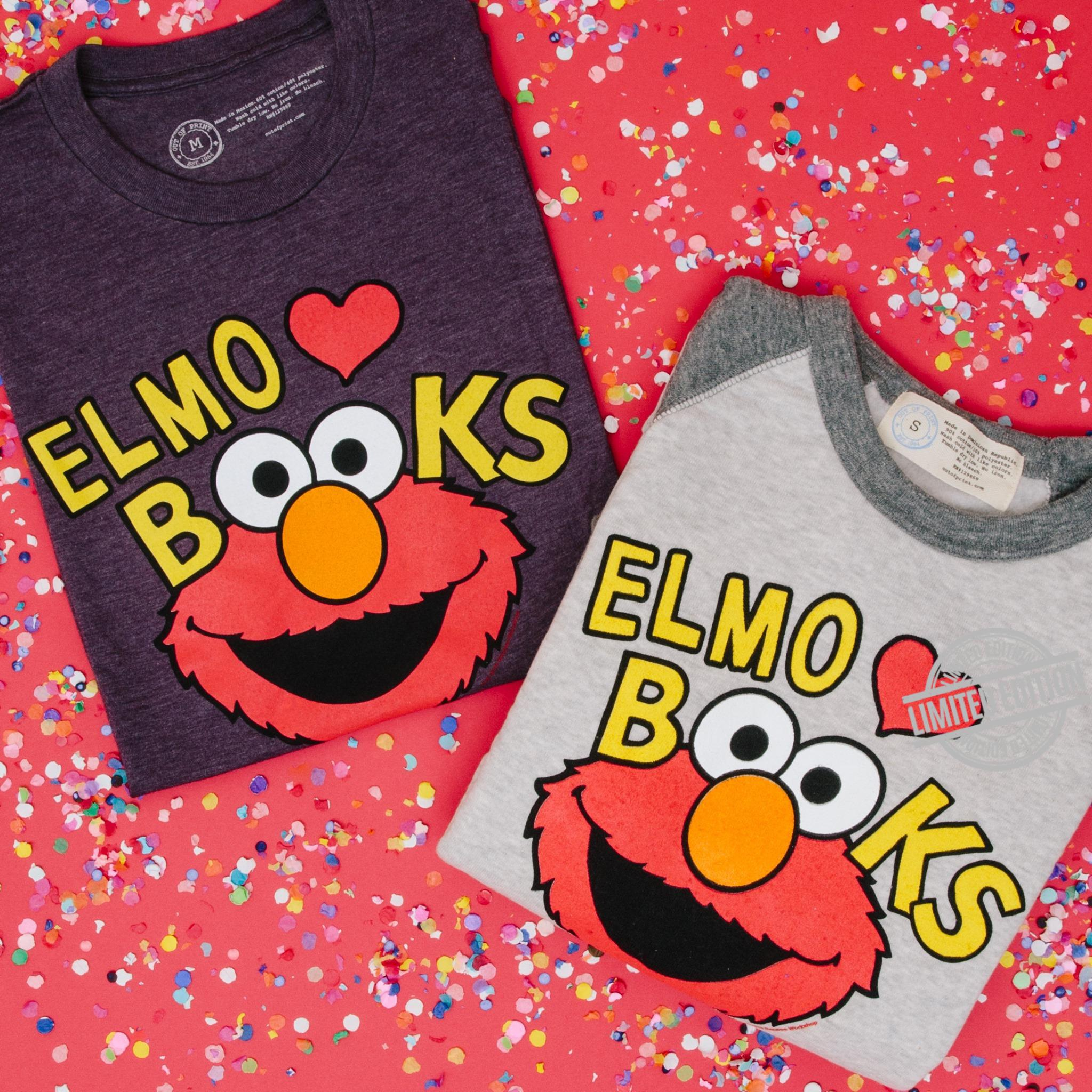 Elmo Books Funny Shirt